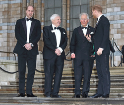 Prince William, Prince Harry and Prince Charles with Sir David Attenborough