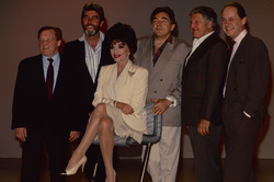 Norman Rossington, John Alderton, Joan Collins, Anthony Newley (ex-husband of Joan Collins), Dennis Quilley and John Standing
