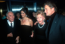 Kirk Douglas, Catherine Zeta Jones, Ann Douglas and Michael Douglas