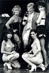 Benny Hill, Louise English, Jane Leeves, Jenny Lee-Wright.