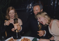 Frances Fisher, Clint Eastwood and Alison Eastwood