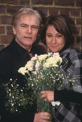 Adam Faith and Zoe Wanamaker